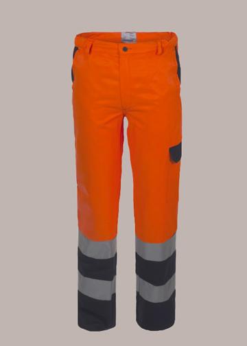 Pantaloni bicolore